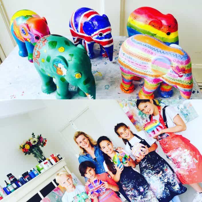 elephantparade,laren,jumbo,atelier,kunstenaars,ontwerpwedstrijd,schilderen,laren
