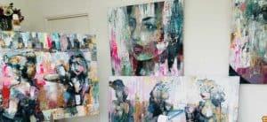 Atelier,studio,karlien,schilderijen