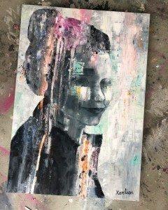 portret,karlien,karlienart,artlaren,laren,kunst,art