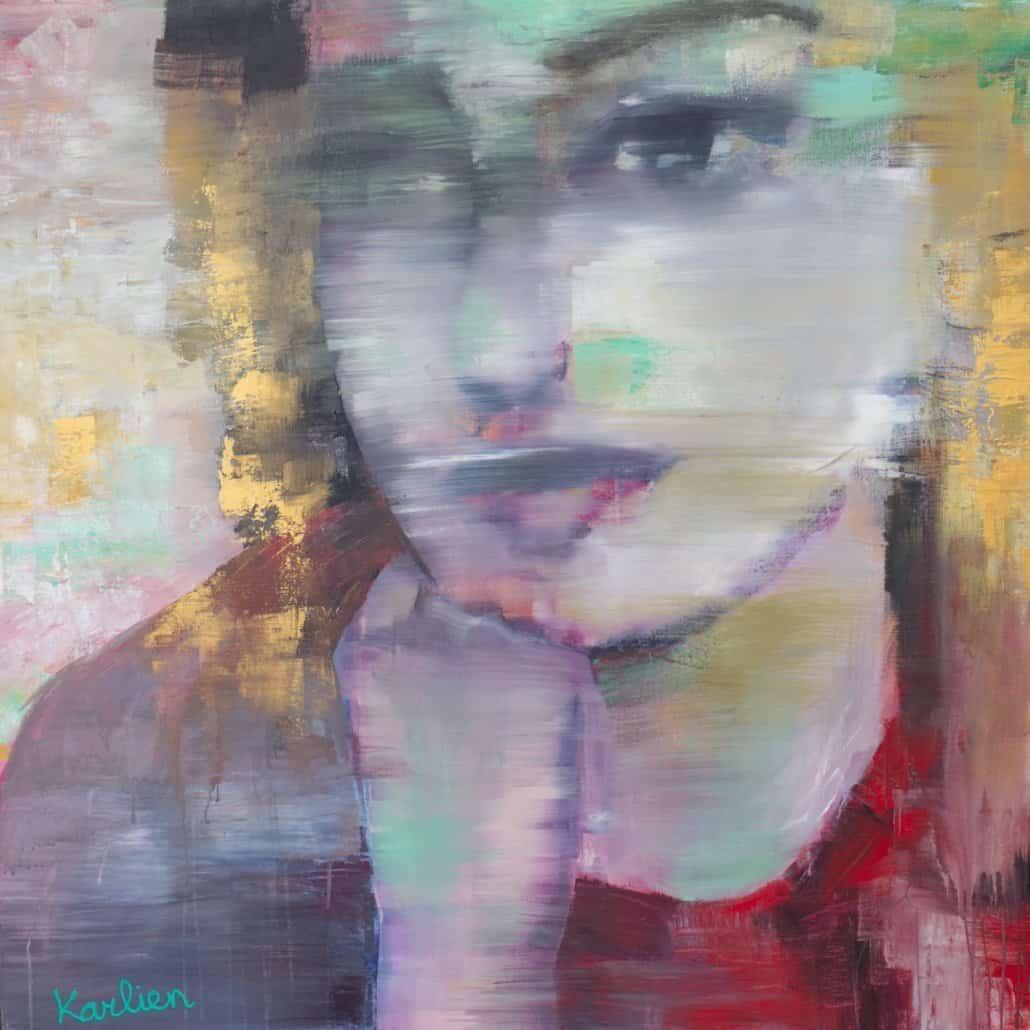 kunst,art,karlien,portrait,red